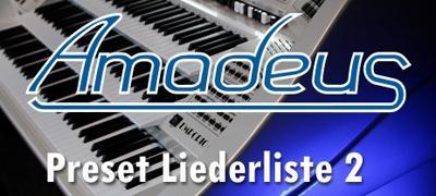 """""""Amadeus"""" Preset-Liederliste 2"""